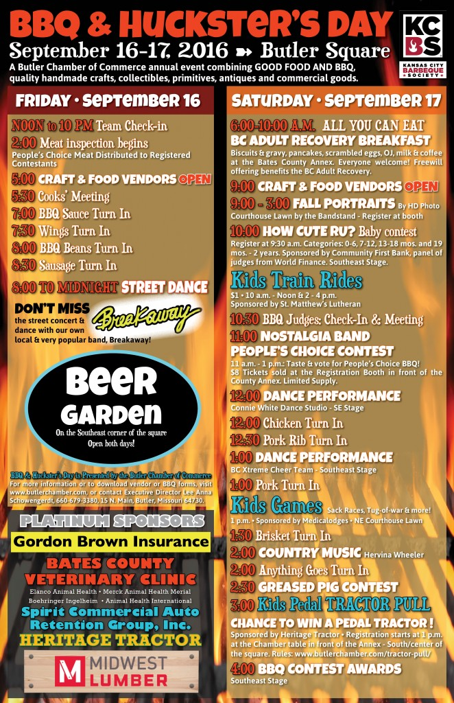 2016 BBQ Hucksters Event Flyer