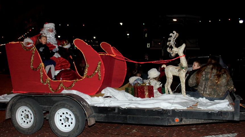 Santa in parade